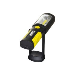 Rechargeable LED workshop lamp 2W COB with magnet and hook