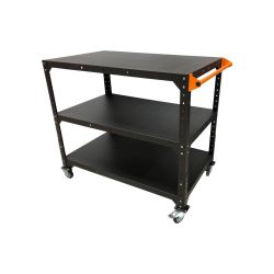 Workshop transportation trolley with three shelves 125x75cm