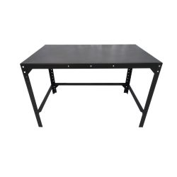 Steel office table, 125x75cm